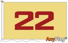 - 22ND REGIMENT OF FOOT ANYFLAG RANGE - VARIOUS SIZES